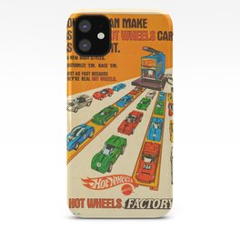 1970 American Issue Vintage Hot Wheels Redline Factory Poster iPhone Case