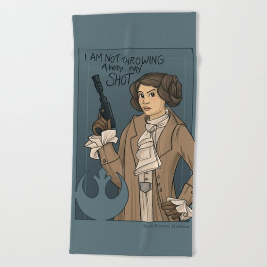 She's Young, Scrappy, and Hungry. Beach Towel
