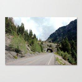 Driving the Spectacular, but Perilous Uncompahgre Gorge, No. 5 of 6 Canvas Print
