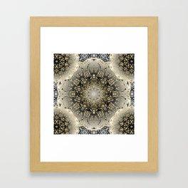 Gilded Nouveau Mandala Framed Art Print