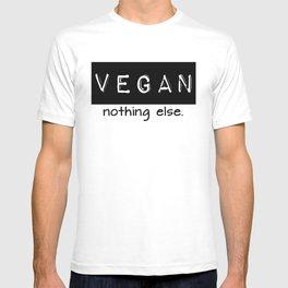 Vegan nothing else black letters T-shirt