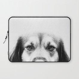 Dog portrait in black & white Laptop Sleeve