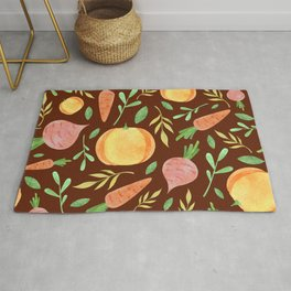 Colorful fruits & vegetable pattern Rug