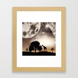 Nature silhouettes Framed Art Print