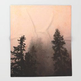 Deep in Thought - Forest Nature Photography Throw Blanket