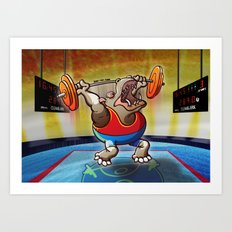 Olympic Weightlifting Hippopotamus Art Print