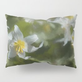 Avalanche Lily Painterly Pillow Sham