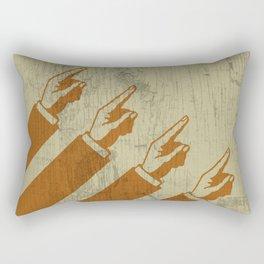 Hier sind die Hände, die nach Norden zeigen Rectangular Pillow