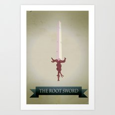 Root Sword Art Print