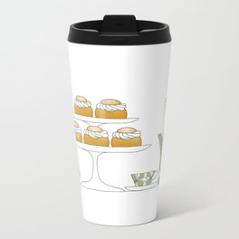 Fika with Semlor Metal Travel Mug
