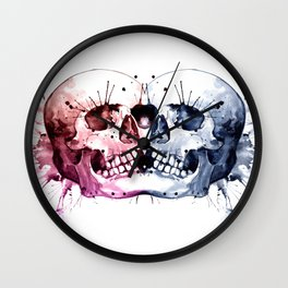Conjoined Skull Wall Clock