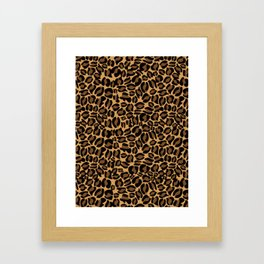 Leopard Print   Cheetah texture pattern Framed Art Print