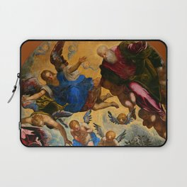 """Tintoretto (Jacopo Robusti) """"Baptism of Christ (Murano)""""(angels) Laptop Sleeve"""