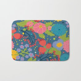 Color Flowers Bath Mat