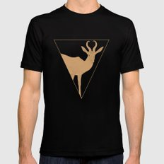 All lines lead to the...Inverted Springbok MEDIUM Black Mens Fitted Tee