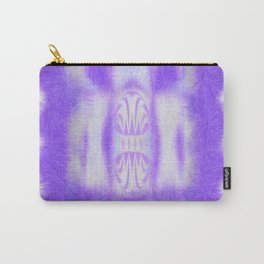 white to pruple Carry-All Pouch