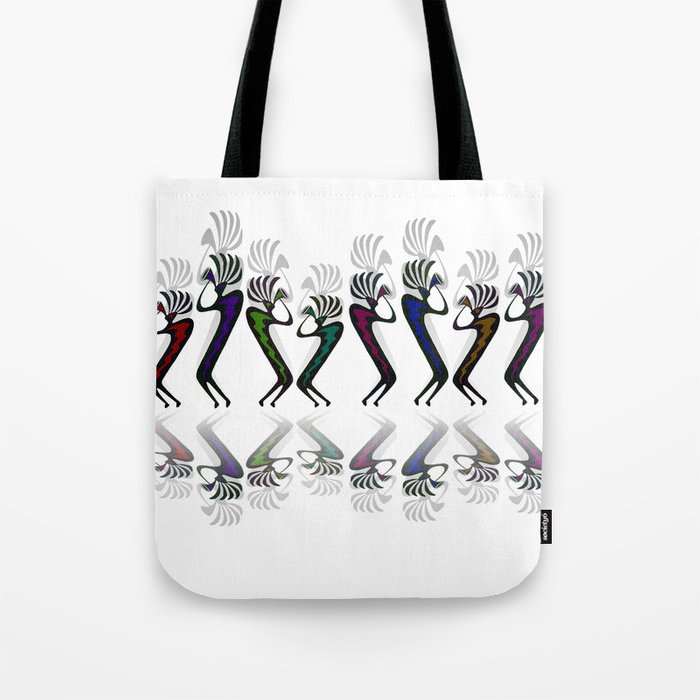 JAZZY KOKOPELLI LINE DANCE Tote Bag