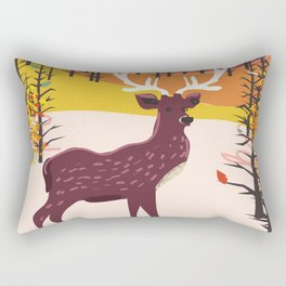 Stag in the wilderness vintage illustration Rectangular Pillow