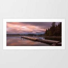 Comox Lake Vancouver Island Art Print