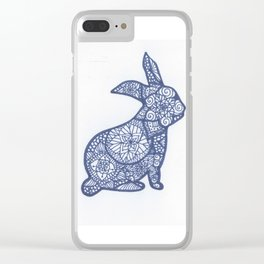 Rabbit Zentangle Clear iPhone Case