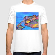 Happy Hippos Mens Fitted Tee White MEDIUM