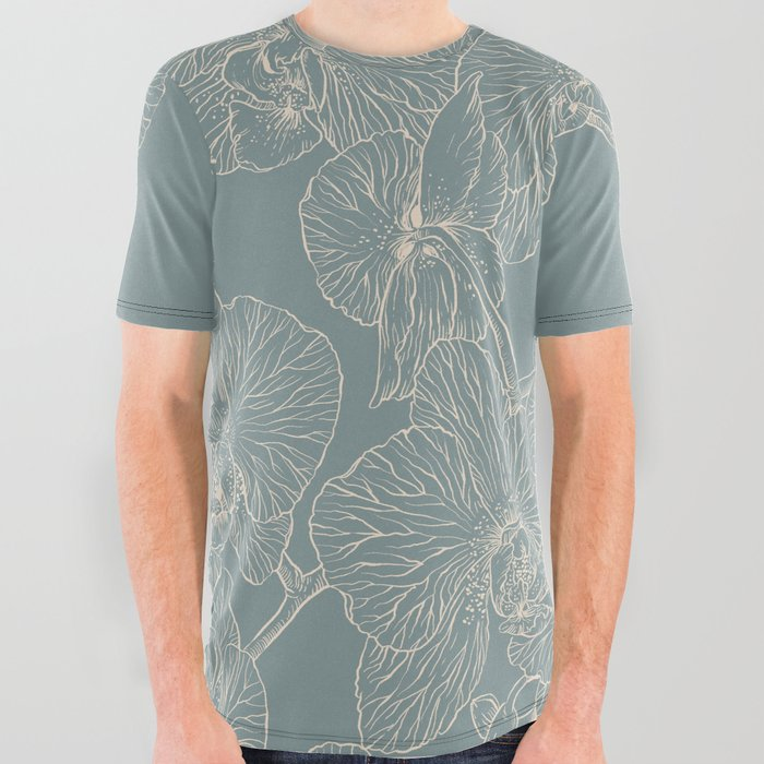 Blue_Inked_Orchids_All_Over_Graphic_Tee_by_Angela_Rizza__Large