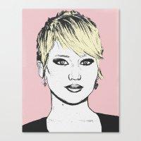 jennifer lawrence Canvas Prints featuring Jennifer Lawrence by CBDB