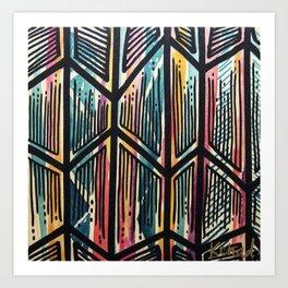Jaded Jagged Art Print