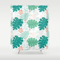 hawaiian Shower Curtains featuring Hawaiian Holidaze by Pamela Hamilton Designs