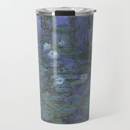 Blue Water Lilies Travel Mug