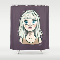 chandelier Shower Curtains featuring Chandelier by Jessi's Art