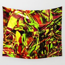Fluid Painting 2 (Yellow Version) Wall Tapestry