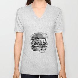 Mac'n ink Burger Unisex V-Neck