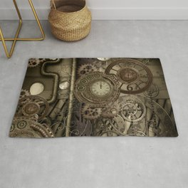 Steampunk, clocks and gears Rug