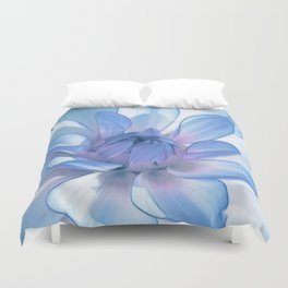 Dahlia blue 202 Duvet Cover