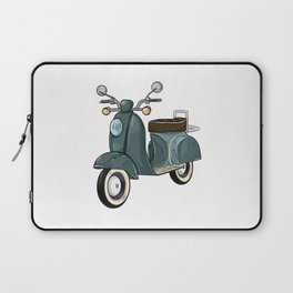 Moped with Mirrors and Bench Laptop Sleeve