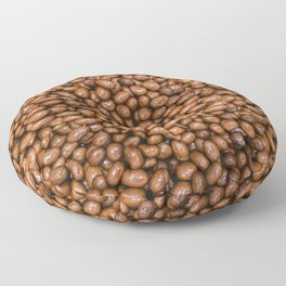 Milk Chocolate Almonds Candy Photo Pattern Floor Pillow