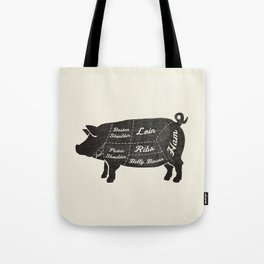 PORK BUTCHER DIAGRAM (pig) Tote Bag