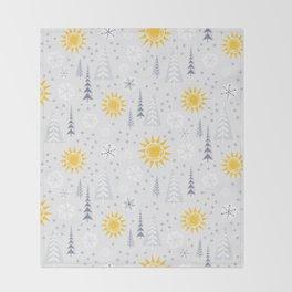 Winter Sunshine Throw Blanket