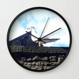 Scottish seagull Wall Clock