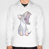 terrier Hoodies featuring Bull terrier by Suzanne Annaars