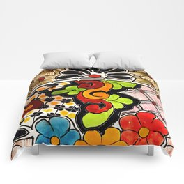 Beautiful Red and Green Talavera Comforters