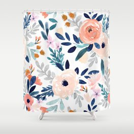 Jolene Floral Shower Curtain