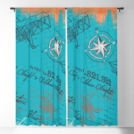 Retro flying Blackout Curtain
