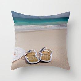 Beach Accessories Throw Pillow