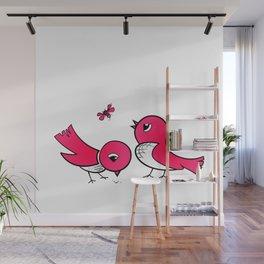 Cute little birds Wall Mural