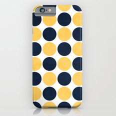 navy and yellow dots iPhone 6s Slim Case