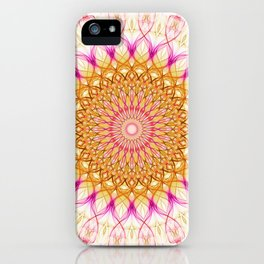 Mandala in golden and pink tones iPhone Case