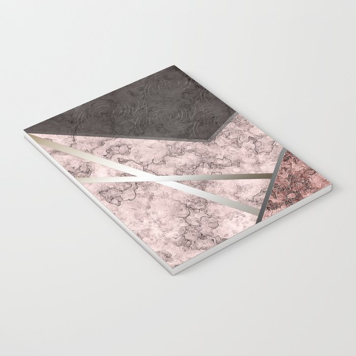 Marble . Combined abstract pattern . Notebook