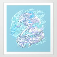 daunt Art Prints featuring Frost Bite by Daunt